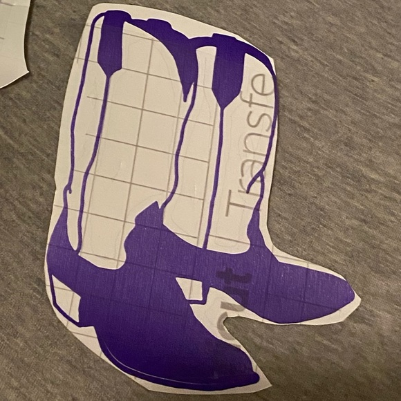 None Other - Cowboy boots decal